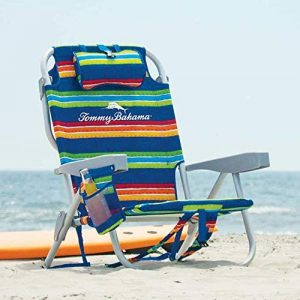 Tommy Bahama Backpack Cooler Chair w/ Storage Pouch & Towel Bar